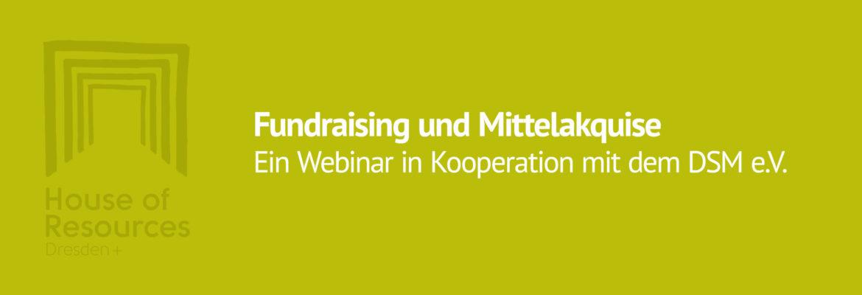 Webinar: Fundraising und Mittelakquise
