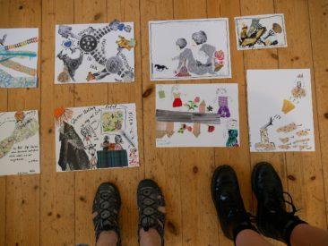 LebensBILD Atelierworkshop mit Anja Maria Eisen (© Elena Pagel