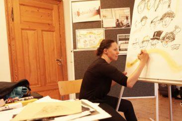 LebensBILD Atelierworkshop Liane Hoder (© Elisabeth Renneberg)