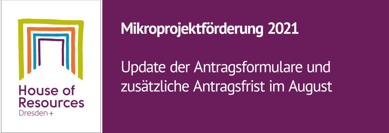 Updates zur Mikroprojektförderung 2021