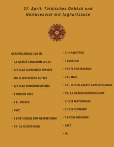 Zutatenliste Türkisches Gebäck