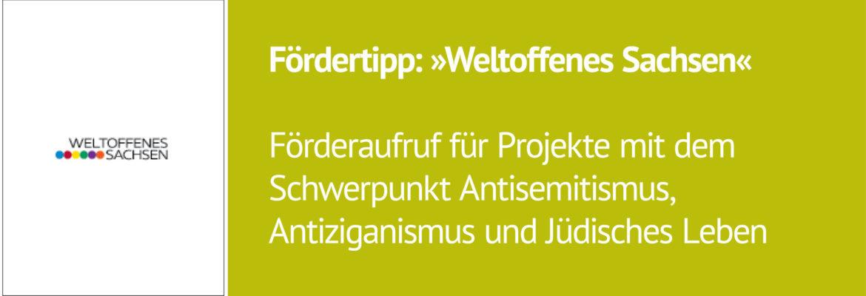 HoR News: Förderaufruf: Weltoffenes Sachsen