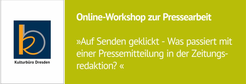 Online-Workshop zur Pressearbeit. 15.September 2021.